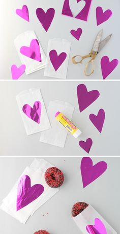 gift bags for valentine's day from Paper n Stitch Blog #papercraft #love