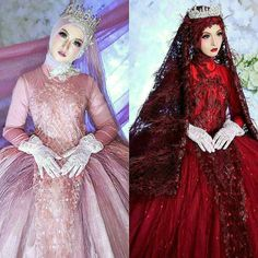 [New] The 10 Best Makeup (with Pictures) - Pink or red . Makeup by owner . Bridal Hijab, Wedding Hijab, Hijab Gown, White Henna, Muslim Wedding Dresses, Photo Makeup, Prom Pictures, Abaya Fashion, Dress Outfits