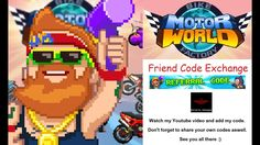 Motor World - Bike Factory Friend Code Exchange (iOS/Android)