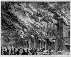 Burning of the Crosby Opera House, Great Chicago Fire, 1871