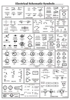 Electrical Schematic Symbols Wire Diagram Symbols Automotive Wiring Schematic…