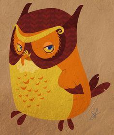 Menlo the Owl by shayfifearts.deviantart.com on @DeviantArt