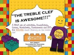 Treble Clef is Awesome!!!  A MEGA Set of Building Activities for Treble Clef
