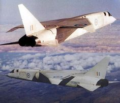 The TSR-2 was a strike and reconnaissance aircraft developed by the British Aircraft Corporation for the RAF in the late 1950s and early 1960s. 23 were built (including 2 static/fatigue test airframes, not all were completed, only 1 flew). Only two incomplete examples survived the hasty destruction that followed the politically motivated project cancellation. Military Jets, Military Aircraft, British Aerospace, Experimental Aircraft, Aircraft Design, Aircraft Pictures, Royal Air Force, Aeroplanes, War Machine