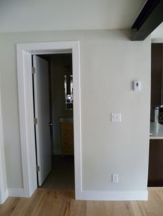 Simple door casing - casing about 75% of baseboard height