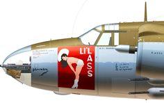 B-26G-25-MA 44-968129 H9-J 'Li'lass' flown by Lt A.R. Danner of the 586th BS, 394th BG