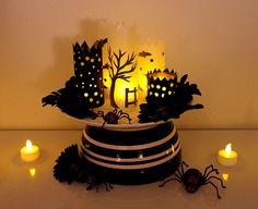 Halloween paper luminaries