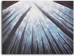 'Treetops Bathed in Mist' Original Painting on Wrapped Canvas