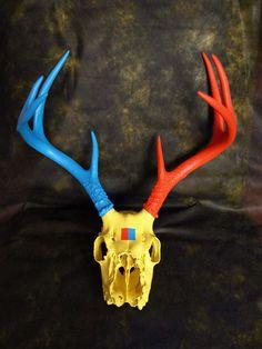 Painting on a Deer Skull
