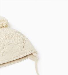 ZARA - ENFANTS - Bonnet à pompon et cache-oreilles
