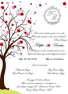 Convite de Casamento - Passarinhos | Convites de Casamentos