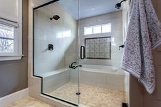 Dual Shower with Garden Tub - Spanish Tile Accent