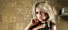 Apavisa Rendering Decor Gold Tiles, Dreadlocks, Hair Styles, Gold, Beauty, Collection, Decor, Room Tiles, Hair Plait Styles