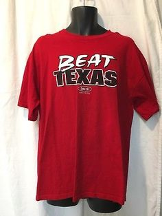 4a305cf6ce31 Oklahoma Sooners Red River Rivalry Beat Texas Funny Shirt XL Big 12 Football