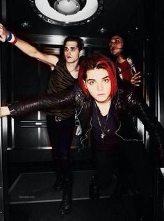 Gerard Way, Mikey Way and Frank Iero.