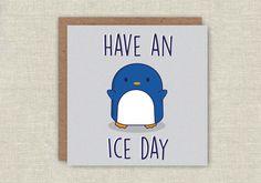 Birthday Card, Cute Card, Penguin Card, Pun Card, Card For Boyfriend, Card For Girlfriend, For Him, For Her, Funny Birthday Card, Penguins