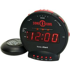13. My ultimate back-to-school must-have item is a Sonic Alert Boom Alarm Clock #momselect  #backtoschool