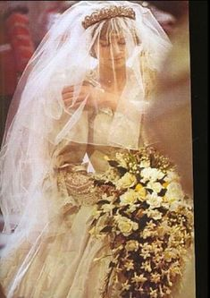 Princess Diana on her wedding day on 29 July 1981