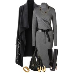 Chic Outfits - Donna Karan Oh Yeah! Classy Outfits, Chic Outfits, Fall Outfits, Fashion Outfits, Winter Typ, Winter Mode, Mode Chic, Mode Style, Looks Plus Size