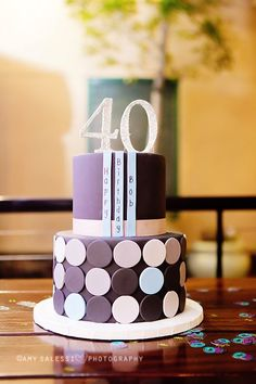 One of our favorite, simple, clean and classic birthday cakes! by thecakemamas Number Birthday Cakes, Birthday Cakes For Men, 40 Birthday, Birthday Ideas, Fondant Cakes, Cupcake Cakes, Cupcakes, Beautiful Cakes, Amazing Cakes
