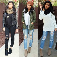 Winter fall outfit ideas