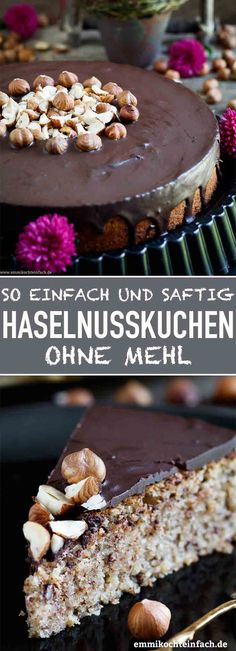 Saftiger Haselnusskuchen ohne Mehl – emmikochteinfach Juicy hazelnut cake without flour The simple and uncomplicated recipe does not require flour. The hazelnuts can also be. Low Carb Desserts, Easy Desserts, Dessert Recipes, Torte Au Chocolat, Hazelnut Cake, Pound Cake Recipes, Food Cakes, Cakes And More, Cake Cookies