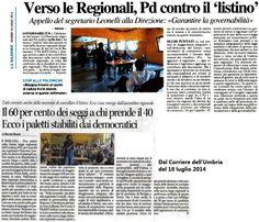 <p>Ieri a Balanzano si è tenuta la prima Direzione del Partito Democratico dell'Umbria, che ha rappresentato un primo giro di orizzonti tra i suoi membri sulla riforma della legge elettorale, che la Regione Umbria si accinge a modificare, anche in virtù del fatto che il prossimo Consiglio regionale vedrà sugli …</p>