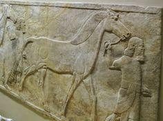 Horses and grooms leaving the palace of Sennacherub in Ninevah 700BCE
