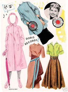 UNCUT DORIS DAY PAPER DOLLS 1957. I Got This From Ebay - MaryAnn - Picasa Webalbum