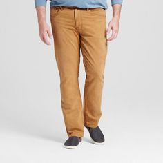 Men's Big & Tall Slim Straight Fit Jeans Khaki 56x30 - Mossimo Supply Co., Brown