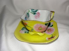 Japanese Tea Cups And Saucers | Tea Cup and Saucer Vintage Occupied Japan by EyeCandyandMore