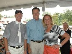 """Jan Ebeling and Mitt and Ann Romney (photo: Diana De Rosa) ~ Possibly we could have the """"1st Horse"""" in the WH..how cool will that be horse lovers? Won't Rafalca make a gorgeous """"First Mare""""?"""