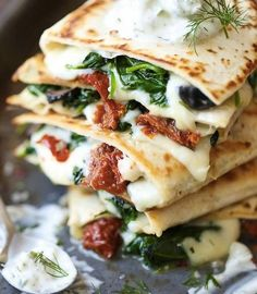 30 minute meals greek quesadilla