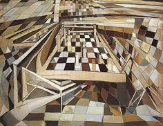 maria elena vieira da silva. checkmate.  I love the shapes, juxtaposition, and appearance of depth.  could go from chess to social media.