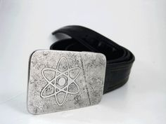 Atomic Belt Buckle  Etched Stainless Steel  by RhythmicMetal, $60.00