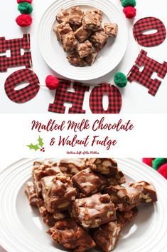 Malted Milk Chocolate & Walnut Fudge has marshmallows and walnuts in every bite plus a little maltiness for a great treat! Fudge Recipes, Best Dessert Recipes, Candy Recipes, Chocolate Recipes, Sweet Recipes, Recipes Dinner, Homemade Chocolate, Pasta Recipes, Crockpot Recipes