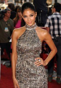 Nicole Scherzinger in Randi Rahm dress