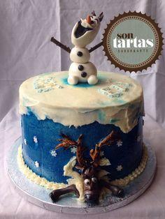 Layer cake de Frozen hecho por Sontartas