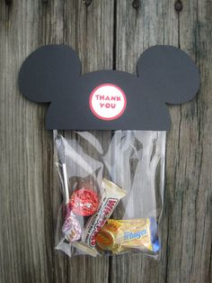Mickey Mouse Treat Bag  Set of 10 by jilliansawyer on Etsy, $6.00