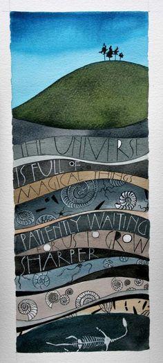 more lettering work « Sam Cannon Art Watercolor Landscape, Watercolor Art, Sam Cannon, Art Journal Pages, Art Journals, Mix Media, Art Plastique, Medium Art, Word Art