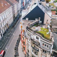 Rooftop terrace in Ghent, Belgium