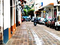 Streets of Cotija, Michoacan. ;) I remember going on motorcicles with my Aunt and sometimes my Uncles!