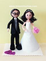 Fofuchas de novios:Pareja de novios. Isabel y Gonzalo regalaron esta figura a un familiar.