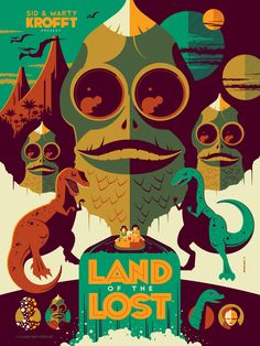 THE AQUABATS, LAND OF THE LOST and More - Comic-Con Poster Art! - News - GeekTyrant