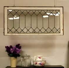 Hang A Vintage Leaded Glass Window With Eye Hooks Bolts