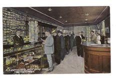 DETROIT MICHIGAN A.C. DIETSCHE'S POST CARD SHOP INTERIOR Postcard
