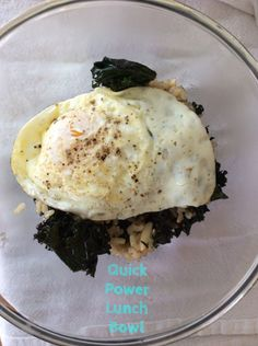 Quick Power Lunch Bowl from TheFitNut #glutenfree #power #energy #kale #lunch #bowl