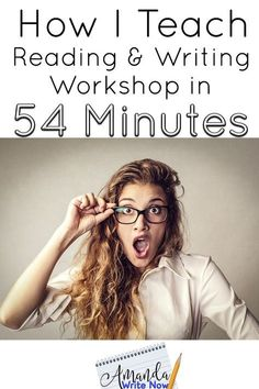 How can secondary teachers, who have less than an hour with their students, do it all? I think I have found the solution. In this article you& find my exact schedule and how I work both reading and writing workshop into one period. Writing Lessons, Teaching Writing, Teaching English, Writing Tips, Teaching Ideas, Teaching Tools, Teaching Resources, Math Lessons, Writing Process