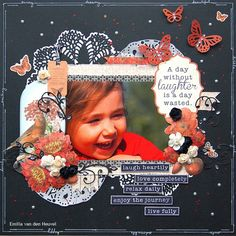 a day without laughter {kaisercraft} - Emilia van den Heuvel Journey Live, Girls 3rd Birthday, Something To Remember, Scrapbooking Layouts, Laughter, Van, Curiosity, Creative, Blog