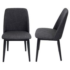 Tintori Mid Century Modern Dining Chairs - Charcoal (Set of 2) - Lumisource : Target